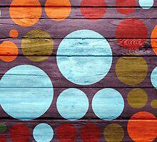 Retro polka dot painted wood by Nhan Ngo