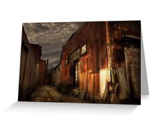 Fitzroy back alley Greeting Card