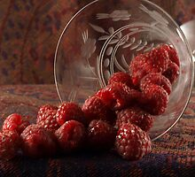 GLASS OF RASPBERRIES by SharonAHenson