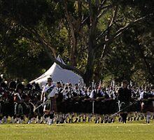 Scotland Amongst The Gum Trees -Brigadoon 31st Highland Gathering Bundanoon NSW Australia by Philip Johnson