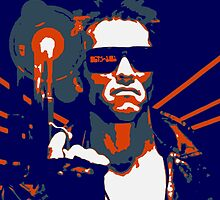 Terminator on White Tshirt by Rich Anderson