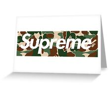 Supreme x Bape  Greeting Card