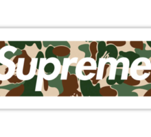 Supreme x Bape  Sticker