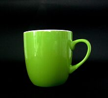 Green Mug 2 by Rowan  Lewgalon