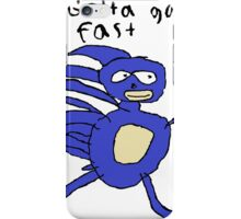 SANIC HEGEHOG GOTTA GO FAST iPhone Case/Skin