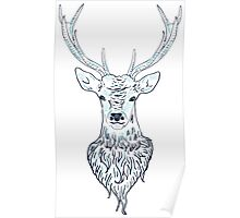 Head of a deer in hand drawn style 3 Poster