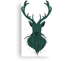 Head of a deer in hand drawn style 4 Canvas Print