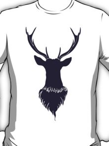 Head of a deer in hand drawn style 6 T-Shirt