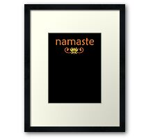 Orange Namaste Framed Print