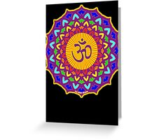 7th Chakra Mandala Yoga Om Greeting Card
