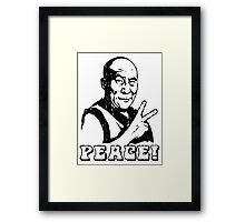 Dalai Lama Peace Sign T-Shirt Framed Print