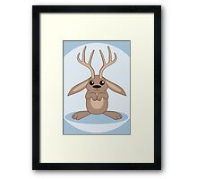 Brown Jackalope Framed Print