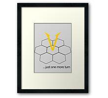Civ V - One more Turn (light) Framed Print