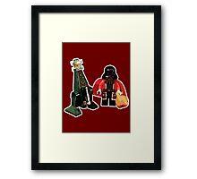 Santa Vader and a Droid Tree! Framed Print