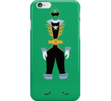 Super Mega Force Power Rangers Green Ranger iPhone Case/Skin