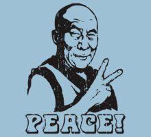 Dalai Lama Peace Sign T-Shirt Kids Clothes