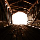 Interior of the Narrows Covered Bridge by Brad Staggs