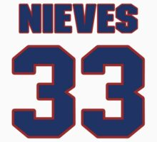 National baseball player Wil Nieves jersey 33 by imsport