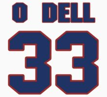 National baseball player Billy O'Dell jersey 33 by imsport