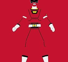 Power Rangers Turbo - Red Ranger iPhone Case by simplepete