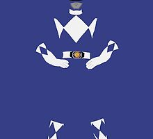 Mighty Morphin Power Rangers Blue Ranger iPhone Case by simplepete