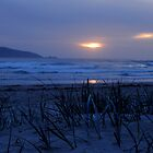 Sunset beach by Paige