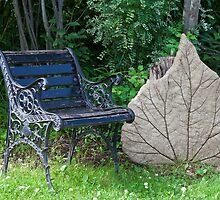 Seating By One Big Leaf  by Sandra Foster
