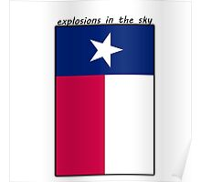 Explosions in the Sky | Texas Flag Poster