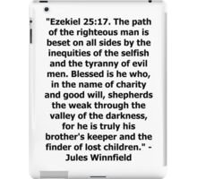 Pulp Fiction - Ezekiel 25:17 Full iPad Case/Skin