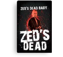 Zed's Dead - Pulp Fiction Canvas Print