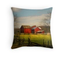 Just up the path Throw Pillow