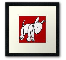 Tired English Bull Terrier Puppy Framed Print