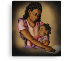 Young Mother (Collaboration W Shakira Rivers) Canvas Print