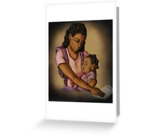 Young Mother (Collaboration W Shakira Rivers) Greeting Card