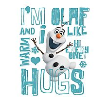Hi everyone! I'm Olaf Photographic Print