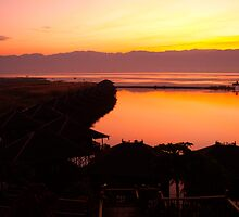 Sunrise - Inle Lake, Myanmar by Tony  Ruello