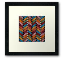 Seamless pattern with stylize sweater fabric in colors. Framed Print