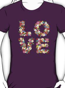 LOVE Spring Flowers T-Shirt