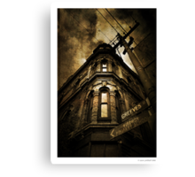 Greeves street Canvas Print