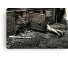 A fright Canvas Print