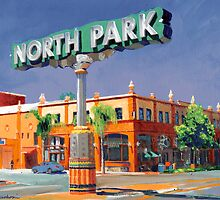 North Park Sign San Diego California by RDRiccoboni