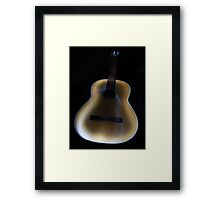 Painted Guitar Framed Print