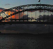 Dark & Rouge - Sunrise Over Sydney Harbour, Moods Of A CitySydney Australia by Philip Johnson