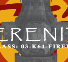 SERENITY - CLASS: 03-K64-FIREFLY Sticker