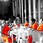 Monks meeting by Cheryl Grover