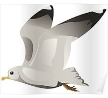 Flying seagull 2 Poster