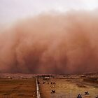 Sand storm in Afghanistan by Antanas