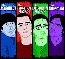 The Big Bang Theory - Howard - Sheldon - Leonard - Rajesh by badboy7