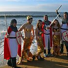 Crusaders and Mermaids at Charmouth Lunge  by lynn carter