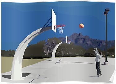 shooting hoops by Mason Mullally